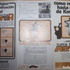 Coches y Motocicletas: PUBLICIDAD SUPER FILTRO ASTOR - DENI CAR - BARCELONA. Lote 76397835