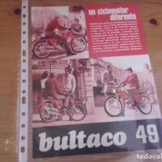 Coches y Motocicletas: CATALOGO ORIGINAL BULTACO 49 . Lote 76671299