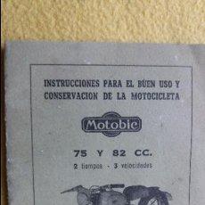 Coches y Motocicletas: INSTRUCCIONES MOTOBIC 75 Y 82 CC. Lote 76694207