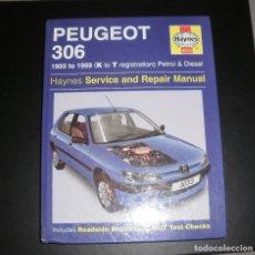Coches y Motocicletas: MANUAL/LIBRO. PEUGEOT 306 (1993-1999). HAYNES, 2003, EN INGLÉS, BASTANTE BUEN ESTADO. Lote 76808867