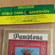 Coches y Motocicletas: ESCUDO DE PAMPLONA. PARA COCHE. Lote 76843997