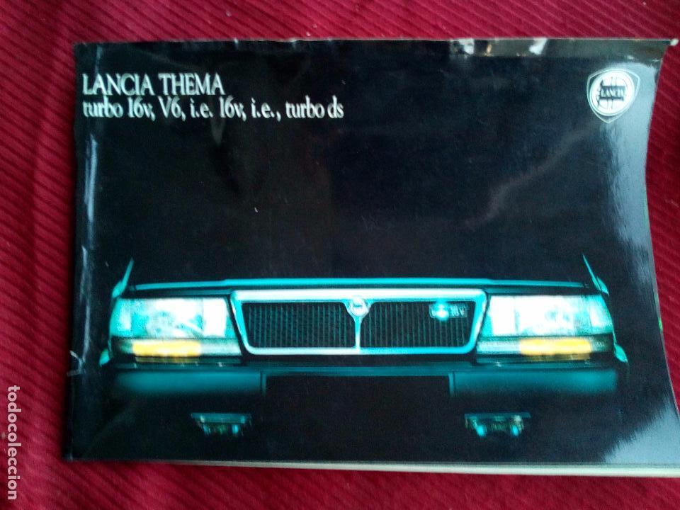 ANTIGUO CATALOGO LANCIA THEMA TURBO 16V AÑO 1988 (Coches y Motocicletas Antiguas y Clásicas - Catálogos, Publicidad y Libros de mecánica)