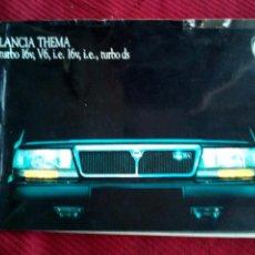 Coches y Motocicletas: ANTIGUO CATALOGO LANCIA THEMA TURBO 16V AÑO 1988. Lote 160090012
