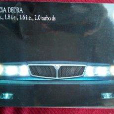 Coches y Motocicletas: ANTIGUO CATALOGO LANCIA DEDRA 1.8 2.0 TURBO AÑO 1989. Lote 77631777