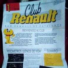 Coches y Motocicletas: CLUB RENAULT DE CATALUÑA Nº1 1987/1988. Lote 77633077