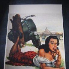 Coches y Motocicletas: CARTEL PUBLICITARIO DE MOTOS MOTO VESPA. Lote 77659669