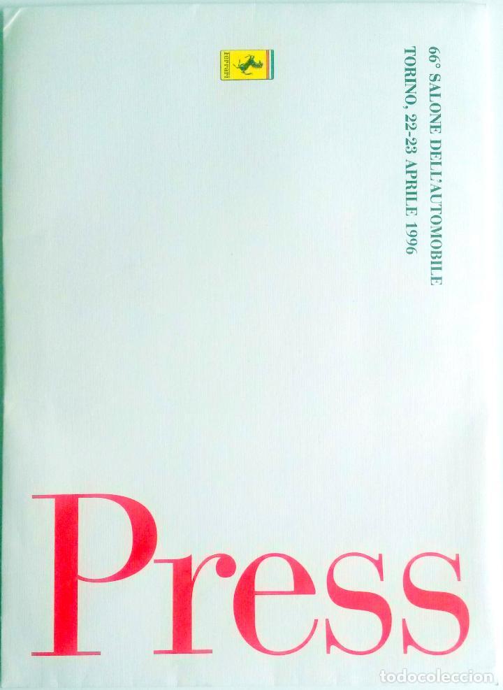 DOSSIER DE PRENSA OFICIAL FERRARI - 66º SALONE DELL'AUTOMOBILE TORINO 1996 TEXTO EN ITALIANO. (Coches y Motocicletas Antiguas y Clásicas - Catálogos, Publicidad y Libros de mecánica)