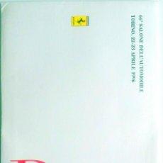 Coches y Motocicletas: DOSSIER DE PRENSA OFICIAL FERRARI - 66º SALONE DELL'AUTOMOBILE TORINO 1996 TEXTO EN ITALIANO.. Lote 77815097