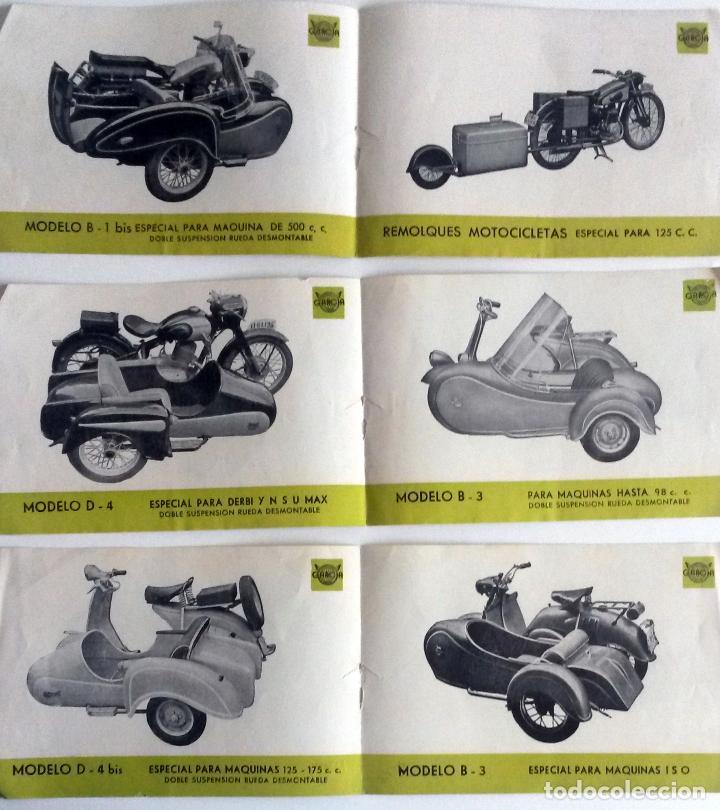 TRES HOJAS CATÀLOGO SIDECARES GARCIA. (Coches y Motocicletas Antiguas y Clásicas - Catálogos, Publicidad y Libros de mecánica)