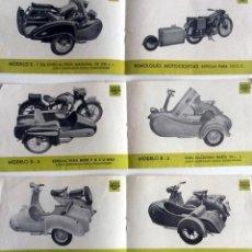 Coches y Motocicletas: TRES HOJAS CATÀLOGO SIDECARES GARCIA.. Lote 78149041