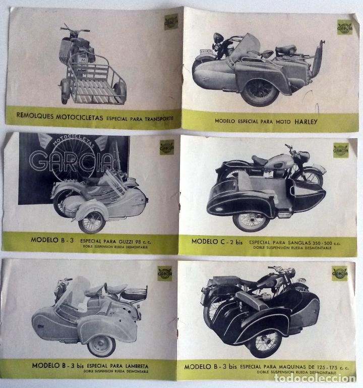 Coches y Motocicletas: TRES HOJAS CATÀLOGO SIDECARES GARCIA. - Foto 2 - 78149041