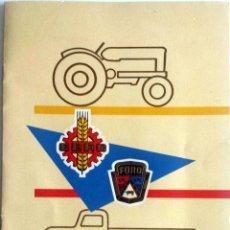 Coches y Motocicletas: CARTA DE UN BANQUETE OFRECIDO POR MOTOR IBÉRICA, S.A. AÑO 1960. CON DETALLE DEL MENÚ Y DEL ESPECTÁC. Lote 78153737