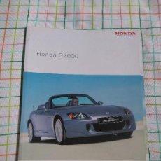 Coches y Motocicletas: CATALOGO HONDA S2000. . Lote 78218265