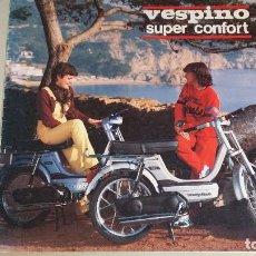 Coches y Motocicletas: VESPINO SUPER CONFORT.CATÁLOGO ORIGINAL MOTO VESPA.VARIAS PÁGINAS.. Lote 115599730