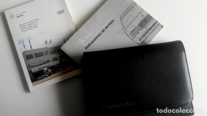 MANUAL DEL PROPIETARIO OFICIAL MERCEDES BENZ CLASE S +CARTERA PORTA DOCUMENTOS. AÑO 1991. (Coches y Motocicletas Antiguas y Clásicas - Catálogos, Publicidad y Libros de mecánica)