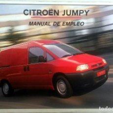 Coches y Motocicletas: MANUAL DEL PROPIETARIO OFICIAL CITROËN JUMPY. AÑO 2000.. Lote 78605117