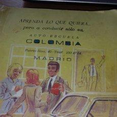 Coches y Motocicletas: LIBRO EJERCICIOS TEST AUTO ESCUELA COLOMBIA. NORMAS CURCULACION . GRÀFICAS NOVA 1973 JAEN. Lote 78883802