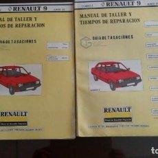 Coches y Motocicletas: 2 LIBROS DE MECÁNICA DEL RENAULT 9 AÑO 82. Lote 79118409