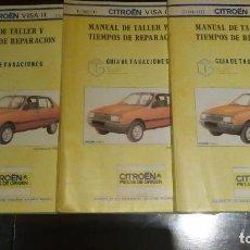 Coches y Motocicletas: 3* LIBROS DE MECÁNICA DEL CITROEN VISA LL AÑO 81. Lote 79177061