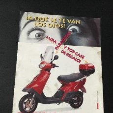 Coches y Motocicletas: FOLLETO CATALOGO PUBLICIDAD ORIGINAL DERBI 1996 MOTUL VAMOS FL. Lote 79712913