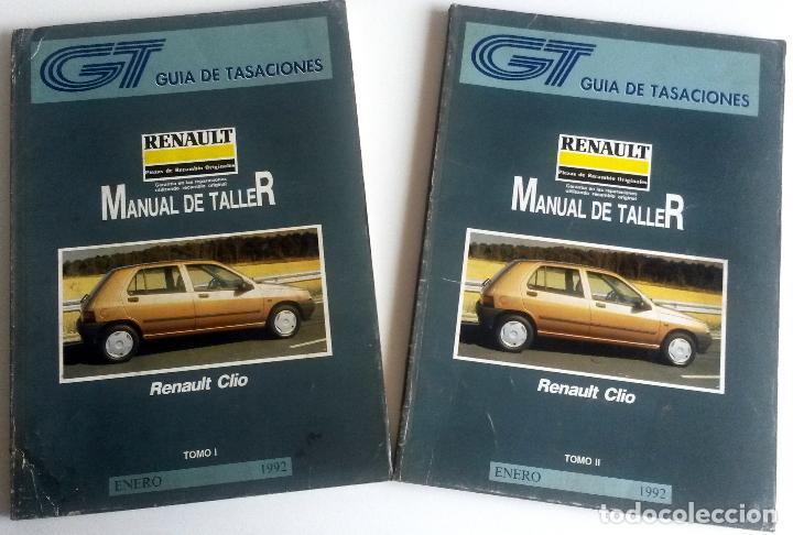 2 TOMOS - MANUAL DE TALLER RENAULT CLIO - ENERO 1992. (Coches y Motocicletas Antiguas y Clásicas - Catálogos, Publicidad y Libros de mecánica)
