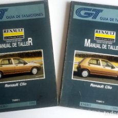 Coches y Motocicletas: 2 TOMOS - MANUAL DE TALLER RENAULT CLIO - ENERO 1992.. Lote 79896017