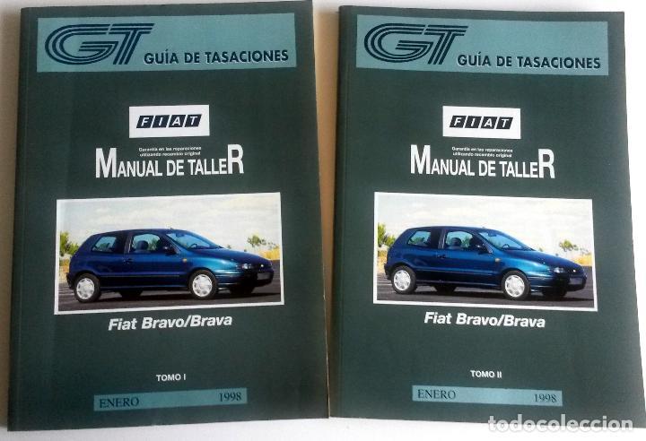2 TOMOS - MANUAL DE TALLER FIAT BRAVO / BRAVA - ENERO 1998. (Coches y Motocicletas Antiguas y Clásicas - Catálogos, Publicidad y Libros de mecánica)