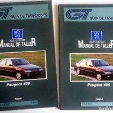 Coches y Motocicletas: 2 TOMOS - MANUAL DE TALLER PEUGEOT 405 - ENERO 1996.. Lote 79899169