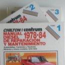 Coches y Motocicletas: LOTE 3 TOMOS MANUAL DIESEL REPARACION Y MANTENIMIENTO - 1978 - 84.. Lote 80124073