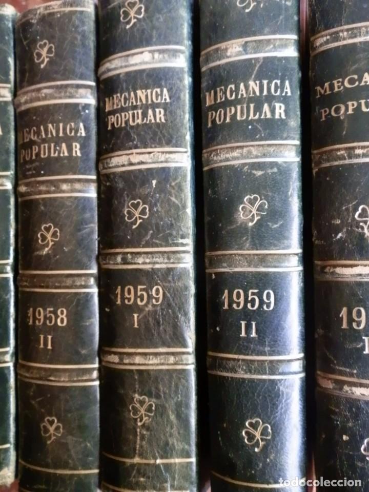 MECANICA POPULAR, 5 VOL. 6 NUMEROS SEMESTRALES. ENERO 1958 A JUNIO 1960, TOTAL 30 REV. 165PP.CONSERV (Coches y Motocicletas Antiguas y Clásicas - Catálogos, Publicidad y Libros de mecánica)