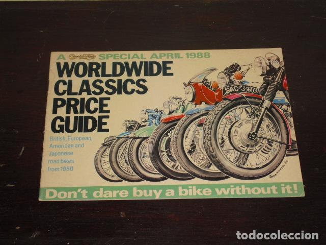 Coches y Motocicletas: WORLDWIDE CLASSICS PRICE GUIDE - 1988 - - Foto 1 - 80528613