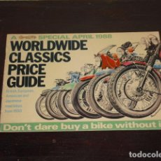 Coches y Motocicletas: WORLDWIDE CLASSICS PRICE GUIDE - 1988 -. Lote 80528613