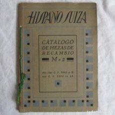 Coches y Motocicletas: CATÁLOGO DE PIEZAS DE RECAMBIO HISPANO SUIZA. VEHÍCULOS M-2 1932. Lote 80752846
