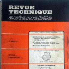 Coches y Motocicletas: ESPECIAL CARBURACION + FORD TAUNUS - REVUE TECHNIQUE AUTOMOBILE -E.T.A.I. Nº 249 - ENERO 1967.. Lote 80753178
