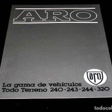 Coches y Motocicletas: TODOTERRENO ARO 240 243 244 320, CATÁLOGO PUBLICIDAD ORIGINAL, EN ESPAÑOL. DESPLEGABLE 6 PÁGINAS.. Lote 160752668