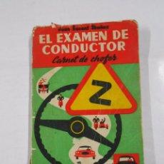 Coches y Motocicletas - EL EXAMEN DEL CONDUCTOR, CARNET DE CHOFER. SENENT IBAÑEZ JUAN. 1963. TDK112 - 40176420