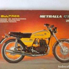 Coches y Motocicletas: BULTACO MANUAL INSTRUCCIONES METRALLA GTS 250. Lote 98765423