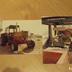 Coches y Motocicletas: 2 FOTOS DE TRACTORES MARCA INTERNACIONAL AÑOS 60-70. Lote 81124224