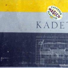Coches y Motocicletas: MANUAL INSTRUCCIONES OFICIAL OPEL KADETT. DEL AÑO 1988.. Lote 81677404
