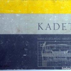 Coches y Motocicletas: MANUAL INSTRUCCIONES OFICIAL OPEL KADETT. DEL AÑO 1987.. Lote 81677484