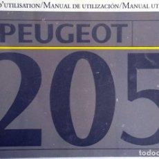 Coches y Motocicletas: MANUAL INSTRUCCIONES ORIGINAL PEUGEOT 205.. Lote 81825268