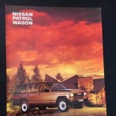 Coches y Motocicletas: FOLLETO CATALOGO PUBLICIDAD ORIGINAL NISSAN PATROL WAGON 1988. Lote 81865544