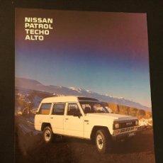 Coches y Motocicletas: FOLLETO CATALOGO PUBLICIDAD ORIGINAL NISSAN PATROL TECHO ALTO 1988. Lote 81865584