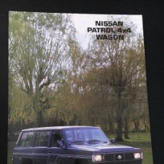 Coches y Motocicletas: FOLLETO CATALOGO PUBLICIDAD ORIGINAL NISSAN PATROL 4X4 WAGON 1989. Lote 81865692