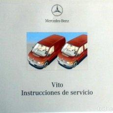 Coches y Motocicletas: MANUAL INSTRUCCIONES ORIGINAL MERCEDES-BENZ VITO. . Lote 82020140