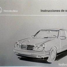 Coches y Motocicletas: MANUAL INSTRUCCIONES ORIGINAL MERCEDES-BENZ CLASE E.. Lote 82020956