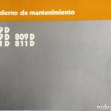 Coches y Motocicletas: MANUAL INSTRUCCIONES ORIGINAL MERCEDES-BENZ 609D. 709D, 809D, 711D, 811D. MANTENIMIENTO.. Lote 82023416