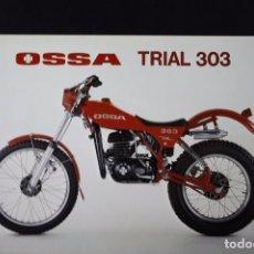 Coches y Motocicletas: CATÁLOGO FOLLETO PUBLICITARIO OSSA TRIAL 303. Lote 82025504