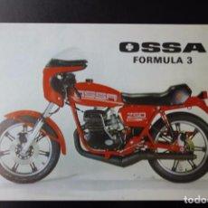 Coches y Motocicletas: CATÁLOGO FOLLETO PUBLICITARIO OSSA FORMULA 3. Lote 82026060
