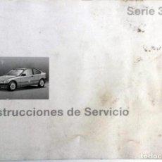 Coches y Motocicletas: MANUAL INSTRUCCIONES ORIGINAL BMW. AÑO 1997. - 316I COMPACT, 318TI COMPACT, 323TI COMPACT, 318TDS CO. Lote 82026652